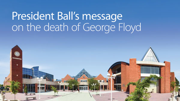 President Ball's message on the death of George Floyd