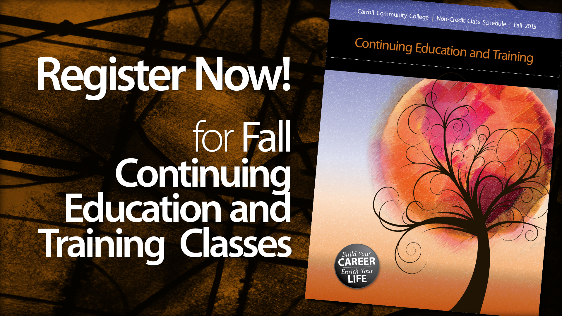 Register for Fall Non-Credit Classes